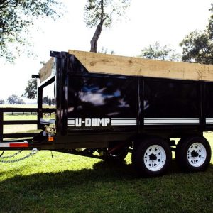 6′ x 12′ 10K x 48″ – Deck Over High Side Dump Trailer