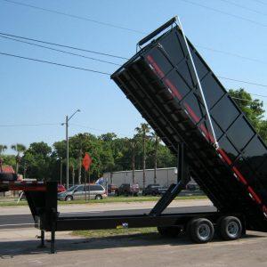 8' X 24' Gooseneck Dump
