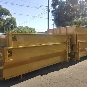 Yellow Dumpster Stacks